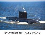 a line of modern russian...   Shutterstock . vector #715949149