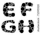 alphabet  black color   part... | Shutterstock .eps vector #71595520