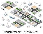 city urban factory | Shutterstock . vector #715968691