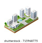 top view of the city | Shutterstock . vector #715968775