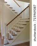 white painted staircase... | Shutterstock . vector #715969387