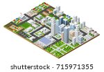 top view of the city | Shutterstock . vector #715971355