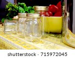 empty canning jars and fresh...