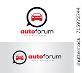 auto forum logo template design ... | Shutterstock .eps vector #715972744