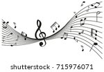 background design with music...   Shutterstock .eps vector #715976071