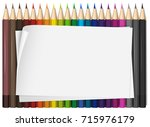 blank paper with colorful color ...