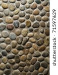 Wet Round Stone Rock Texture...