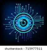 binary circuit future... | Shutterstock .eps vector #715977511