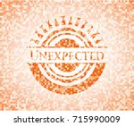 unexpected abstract orange... | Shutterstock .eps vector #715990009