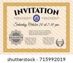 orange formal invitation.... | Shutterstock .eps vector #715992019