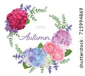 Floral Frame With Autumn...