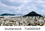 aerial view of mount lycabettus ...   Shutterstock . vector #716000569