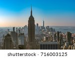 manhattan skyscrapers at... | Shutterstock . vector #716003125