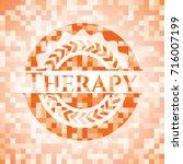 therapy orange mosaic emblem... | Shutterstock .eps vector #716007199