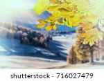 autumn vintage background with... | Shutterstock . vector #716027479