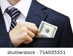 solid man in a jacket with a... | Shutterstock . vector #716035351