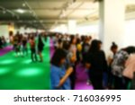 the blurry photo crowd of the... | Shutterstock . vector #716036995