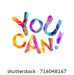you can. motivational... | Shutterstock .eps vector #716048167