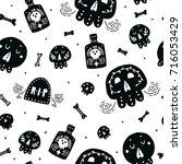 halloween background  kids... | Shutterstock .eps vector #716053429