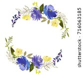 royal blue violet yellow...   Shutterstock . vector #716063185