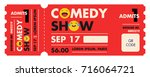 performance show entry ticket... | Shutterstock .eps vector #716064721