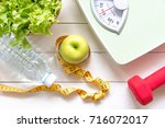 diet and healthy life concept....   Shutterstock . vector #716072017