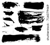 grunge shapes isolated on white ... | Shutterstock .eps vector #716079469