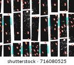 abstract hand drawn halftone... | Shutterstock .eps vector #716080525
