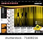 web site design template ... | Shutterstock .eps vector #71608216