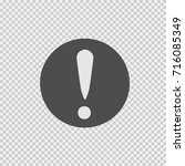 exclamation mark vector icon... | Shutterstock .eps vector #716085349