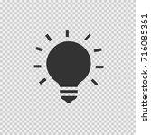 bulb vector icon eps 10. simple ... | Shutterstock .eps vector #716085361