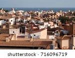 palma de mallorca view over the ... | Shutterstock . vector #716096719