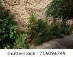 old european street decorated... | Shutterstock . vector #716096749