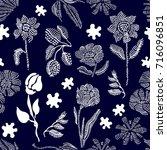 floral seamless vector pattern... | Shutterstock .eps vector #716096851
