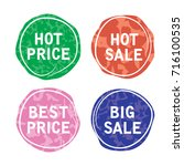 vector price tags. sale offer... | Shutterstock .eps vector #716100535