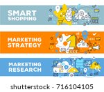 smart shopping   marketing... | Shutterstock .eps vector #716104105