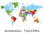 color world map | Shutterstock .eps vector #716115961