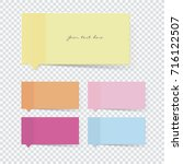 sticky note | Shutterstock .eps vector #716122507