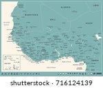 west africa map   vintage... | Shutterstock .eps vector #716124139