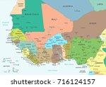 west africa map   detailed...   Shutterstock .eps vector #716124157