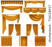 curtains and draperies interior ...   Shutterstock .eps vector #716128417