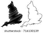 england map vector illustration ... | Shutterstock .eps vector #716130139