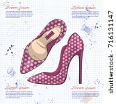 fashion vector sketch womens... | Shutterstock .eps vector #716131147