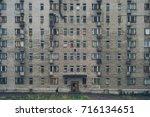 dormitory building in a...   Shutterstock . vector #716134651