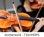 playing violin | Shutterstock . vector #716145091