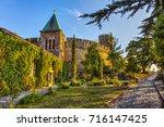 church of ruzica  kalemegdan... | Shutterstock . vector #716147425