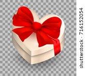 festive gift packaging  box.... | Shutterstock .eps vector #716152054
