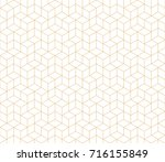 abstract geometric pattern with ... | Shutterstock .eps vector #716155849