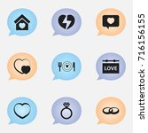 set of 9 editable passion icons....