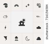 set of 13 editable air icons....
